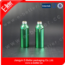 green 80ml aluminum bottle for skin care with pump and spray