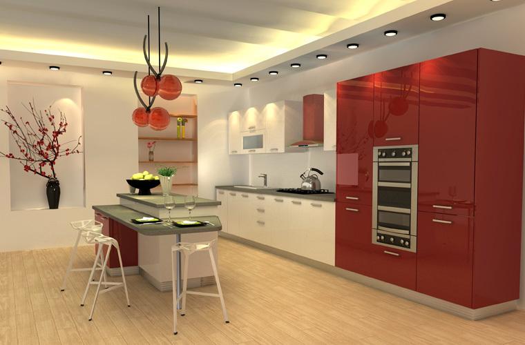 Laca oppein armarios/gabinetes cocina modular de américa diseños de ...
