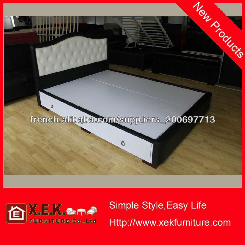 2013 cuir moderne mobilier de chambre coucher lit en for Mobilier de chambre a coucher moderne