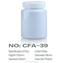 275ml PET White Medicinal Plastic Jar With White Cap