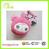 soft plush animal ear warmer headband