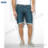 SALCAR capris denim jeans for men oem and odm chinese denim factory male's summer hot pants (LSMPF8038-3)