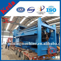 150tph alluvial gold wash plant trommel with diesel engine or generator set