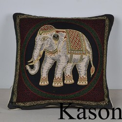 thai style elephant cushion cover jacquard cushion cover for home