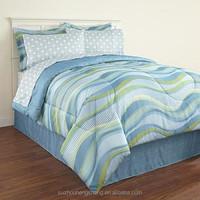 100% polyester summer inspired design print bedding set