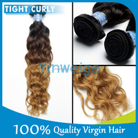 double fashion cheap 100% virgin tight curly brazilian ombre hair,cheap brazilian hair weaving