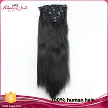 fast deals best quality virgin remy brazilian human hair extension natural clip on hair extension