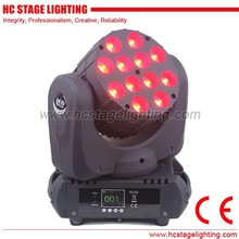 rotating stage light RGBW 4IN1 12x10 led moving head dj light