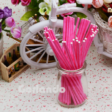 food grade marshmallow colored lollipop paper sticks