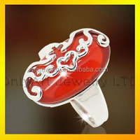 925 sterling silver rings with big ruby, ruby jewelry in china