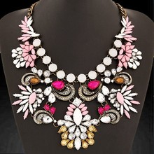 ODM/OEM Jewelry Factory fashionable colorful water droplet heavy necklace, hawaii flower necklace lei