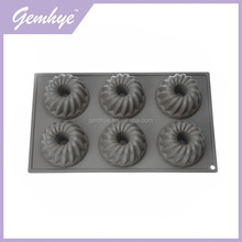 Homemade 6 Holes Food Grade Silicone Cup Cake Baking Mould