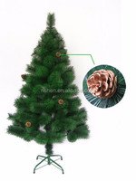 wholesale pine needle xmas tree unique artificial metal frame christmas tree with pine cones