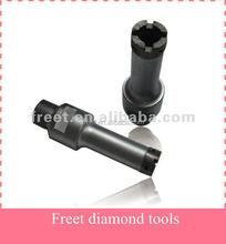 Diamond tip core drill bits for stone concrete