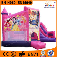 Commercial cheap high quality fairy inflatable kids slide bouncy castles outdoor