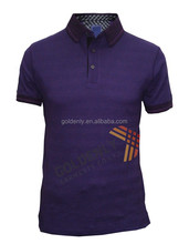 Fashion design cotton polyester polo T shirt embroidery for mens