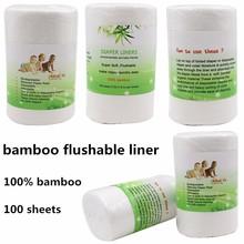 Ohbabyka Disposable Natural Oganic Biodegradable Bamboo Flushable Liners