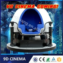 China 360 Degree Electric 3 Seats 9D VR Egg Cinema 3 Seat Egg Design 9D Cinema Movie Made In Lechuang