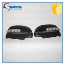 for Toyota hilux vigo 2012-2014 fast delivery ABS plastic door mirror cover with led light black car side mirror accessories