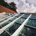 excelente qualidade de vidro transparente e telhado de construção de fábrica