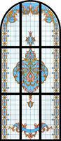 Top arch decorative window screen