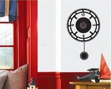 Etiqueta de la pared reloj de reloj de pared de estilo