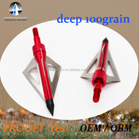 aftershock maniac RED broadheads 100gr for Compound bow & crossbow
