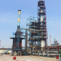 2015 advanced technology waste tire plasic pyrolysis oil recycling to diesel distillation plant with high quality system