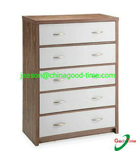 Contrast color design cabinet wooden multi drawer