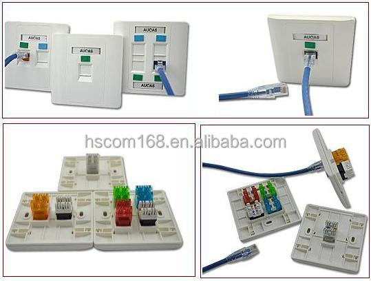 86 86 Face Plate Suitable For Network Rj45 Modular Jack