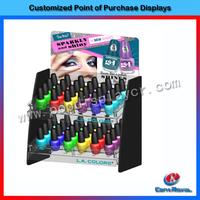 Nail polish floor standing rack display/OEM design acrylic nail polish display rack