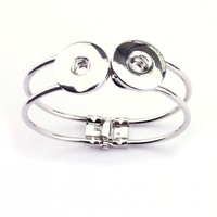 Yiwu Factory Fashion Buy Chinese Products Online Alloy Interchangeable Button Charm Bracelet