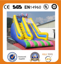 2015Good quality Cartoon characters inflatable slide,climing dry slide inflatable,china inflatable slide