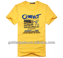 cheap fashion short sleeve school uniform t-shirt