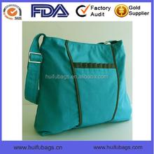 Hot selling new women single long shoulder bag Green Canvas long shoulder bag for ladies