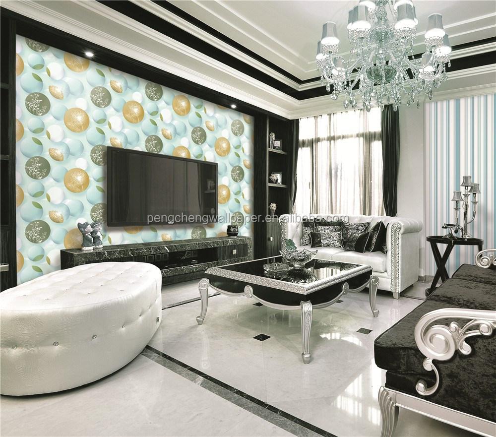 Hot verkoopt 3D steen ontwerp pvc behang voor woonkamer thuis ...