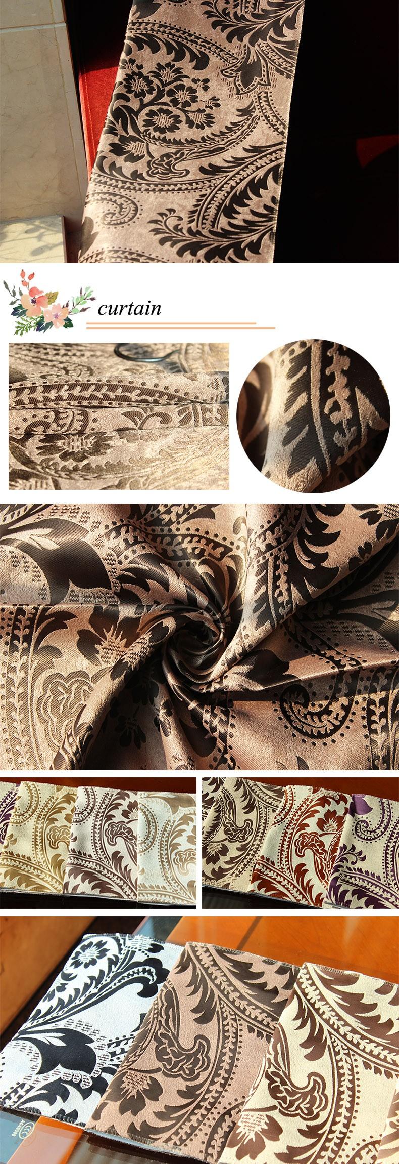 Bruine afdrukken woonkamer gordijn ontwerp gordijn product id ...