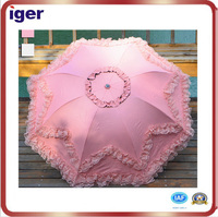 best selling pink beautiful tiny umbrella with lace