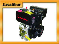 Global Famous Brand Excalibur Portable 10HP 406cc Single Cylinder 4-Stroke Manual/Electric Start Diesel Engine For Sale S186F
