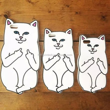 White silicone cat shape phone case with good price for iPhone6s/6s plus