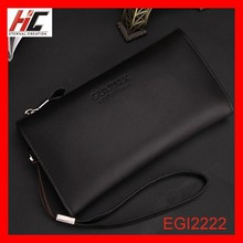 New Men's business casual leather wallet cow leather clutch bags soft bark black wrist bag