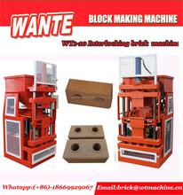 WANTE MACHINERY WT1-10 clay interlocking brick making machine