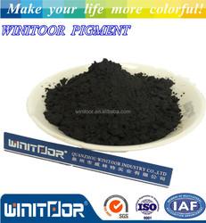 Black iron oxide pigment for paving and asphalt