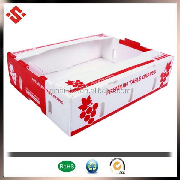 2015 embalaje de frutas cajas de cartón corrugado, corrugado caja de