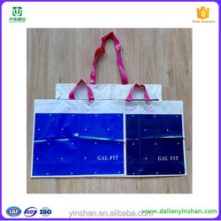 LDPE printed plastic poly bag/soft loop handle bag plastic manufacturer whith alibaba China supplier
