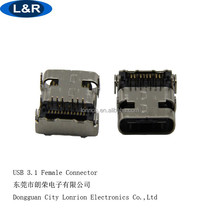 Usb 3.1 C type female connector for PCB board