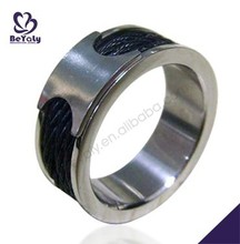 2015 cheap price jewelry 316l stainless steel letter m ring