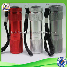 China Manufacturer Supplier Led Led Torch Flashlight Mini 9 LED Torch