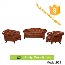 951# 2015 new products popular design chestefield living room sets imported leather sofa
