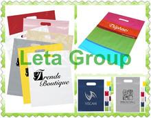 shopping die cut handle bag garment/apparel